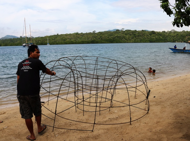 Artificial reef structure before immersion
